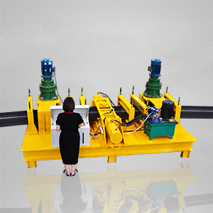 Steel beam bending machine