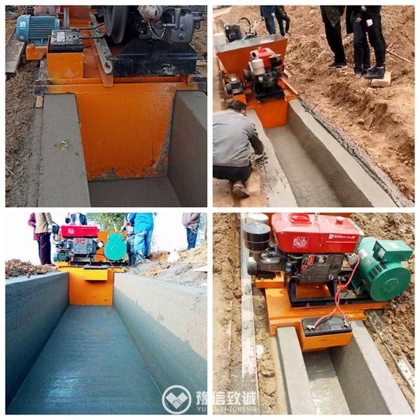 Diesel ditch making machine