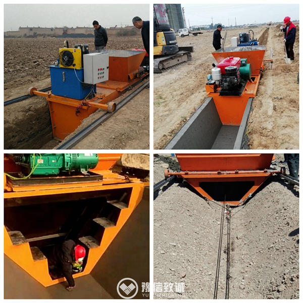 concrete canal lining machine