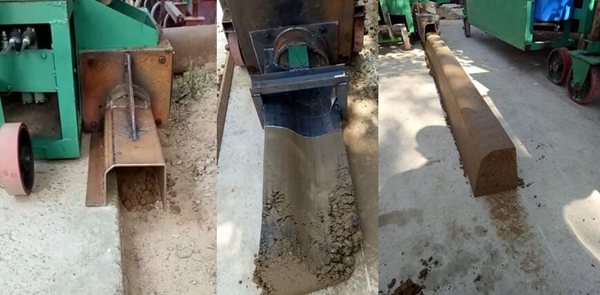 Different shape of extruding tybe kerb making machine