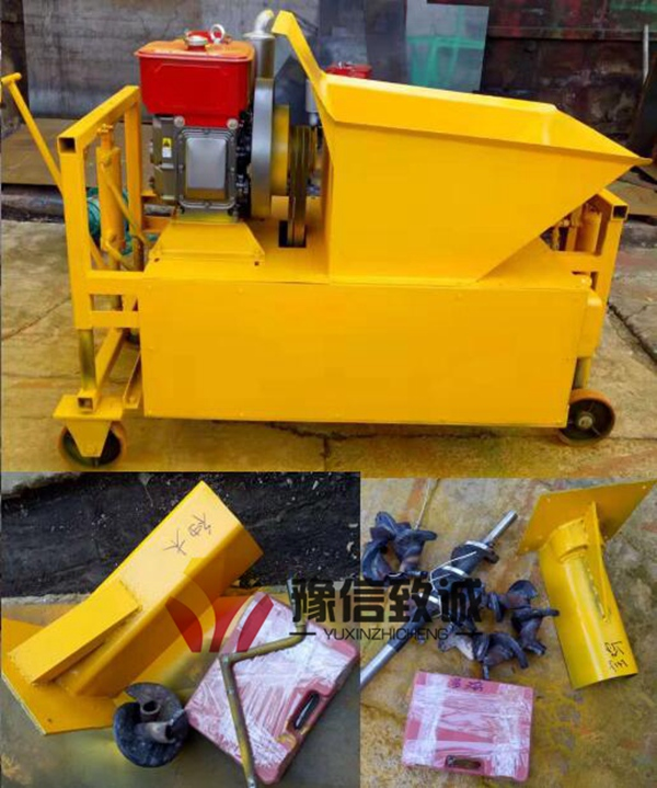 Concrete kerb machine and wearing parts