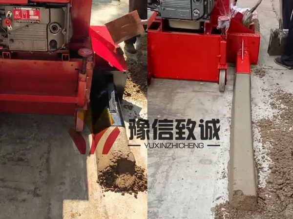 Hand adjusted curb paver