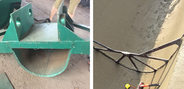 U shape digging bucket and cutting device