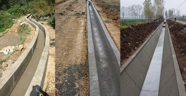 concrete ditch making machine