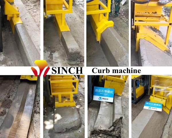 concrete kerb machine