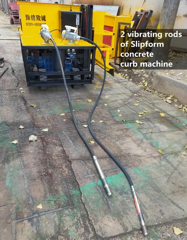 concrete road curb paving machine