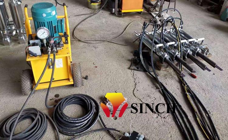 electric rock splitter in factory