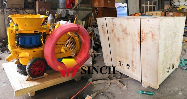 Packing of air motor shotcrete machine