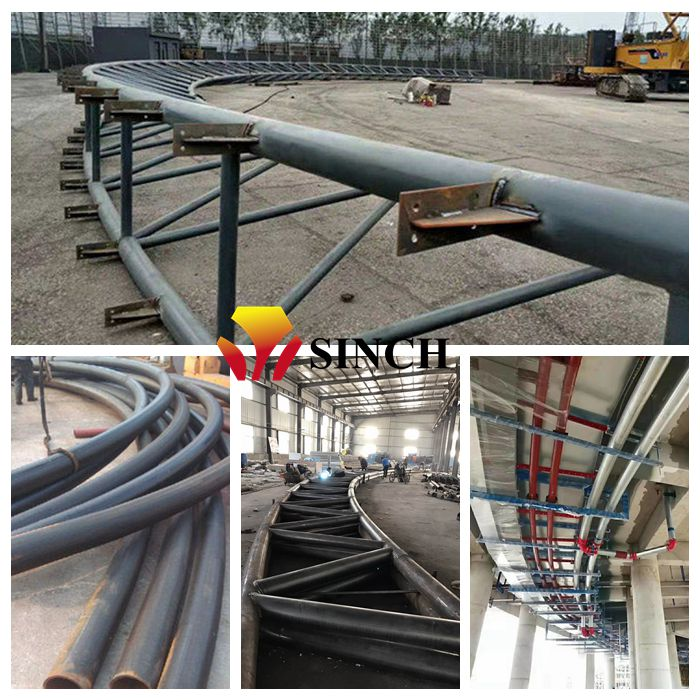 bended steel pipe applications