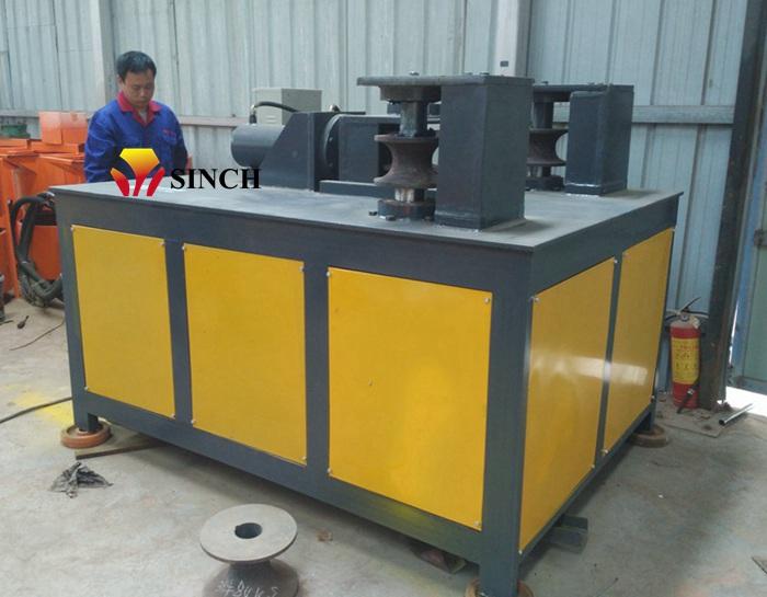 Steel pipe bending machine in factory