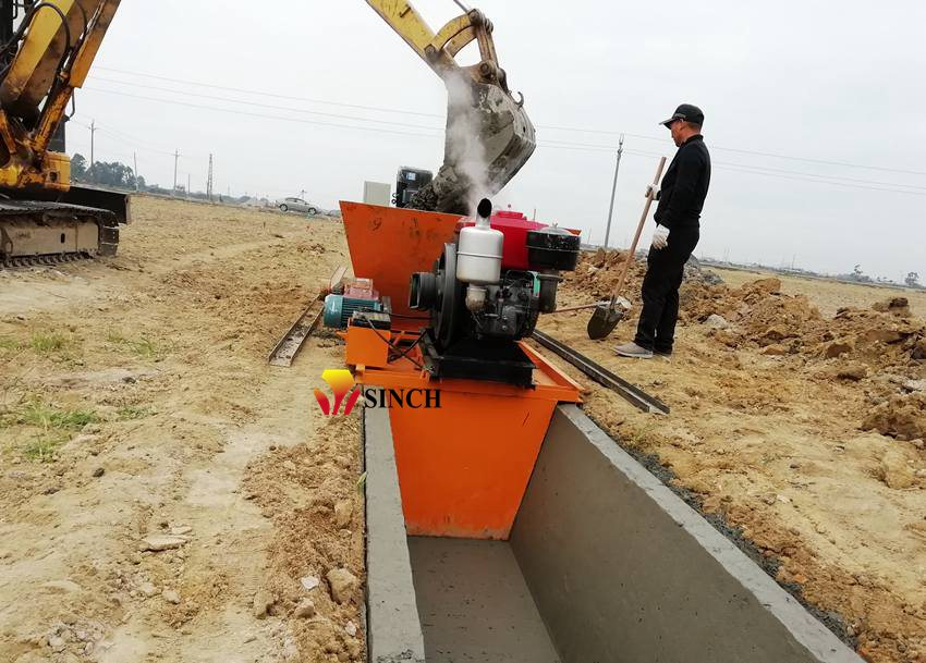 canal paving machine
