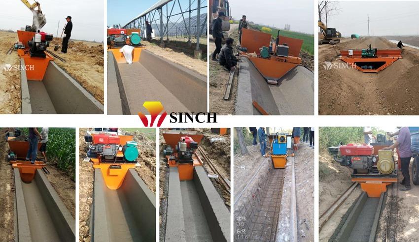 Concrete canal making machine