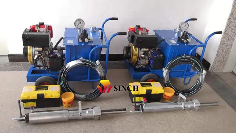 Diesel type rock splitter machine